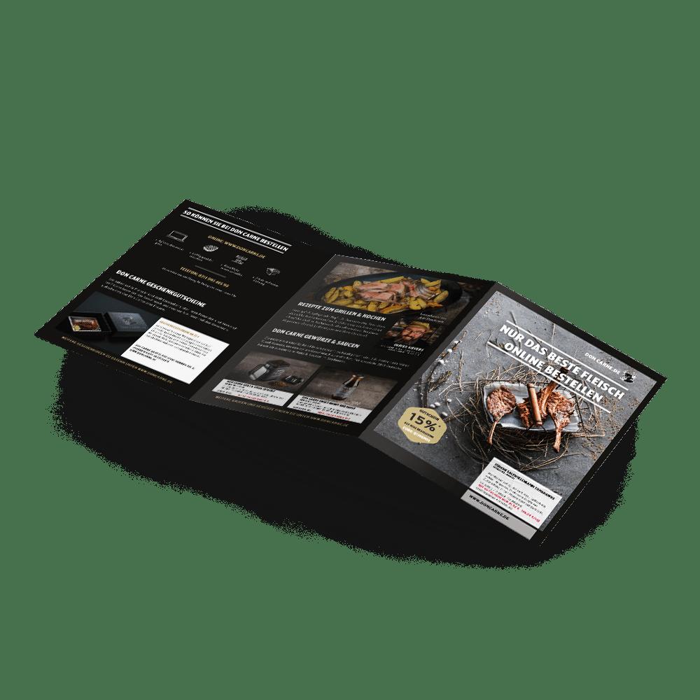 DIN A5 6-Seiter mit Wickelfalz
